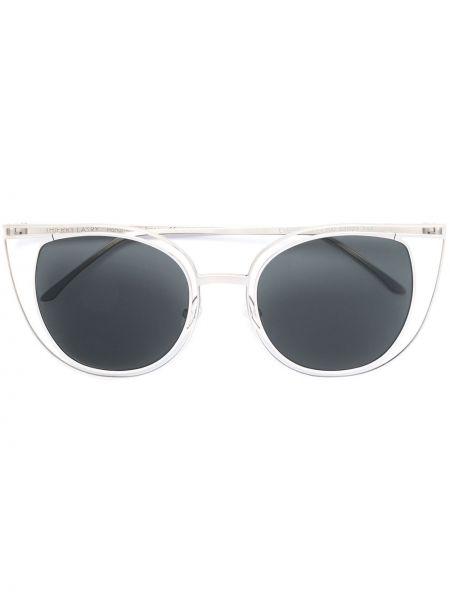 Солнцезащитные очки металлические хаки Thierry Lasry