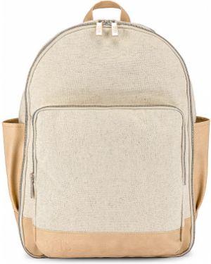 Beżowy plecak na laptopa bawełniany Beis