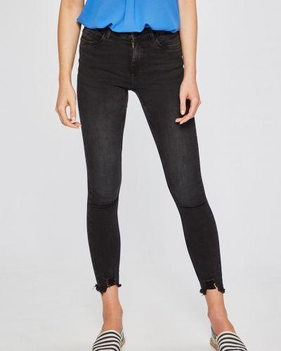 Серые джинсы-скинни Noisy May
