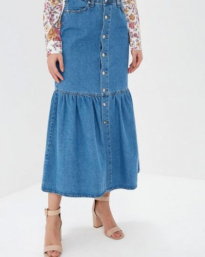 Синяя джинсовая юбка Miss Miss By Valentina