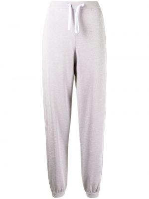 Fioletowe spodnie bawełniane Mrz