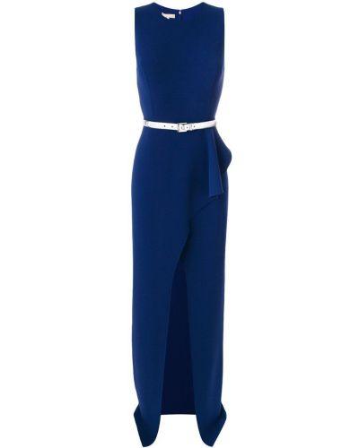 Платье с поясом каскадное с вырезом Michael Kors