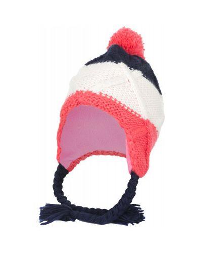 Вязаная шапка с помпоном с ушками Glissade