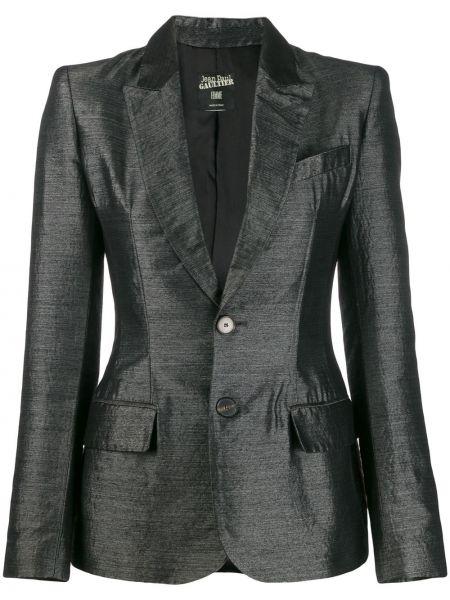 Серая куртка с манжетами на пуговицах с воротником Jean Paul Gaultier Pre-owned
