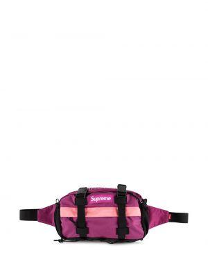 Поясная сумка с логотипом - розовая Supreme