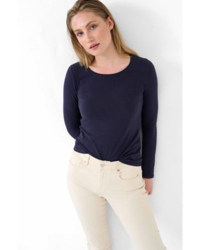 T-shirt materiałowa - niebieska Orsay