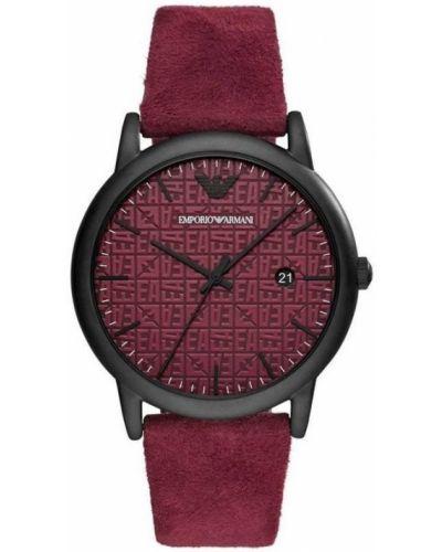 Zegarek kwarcowy skórzany klamry Emporio Armani