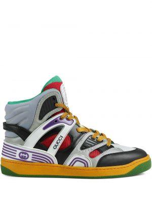 Sneakersy wysokie - czarne Gucci