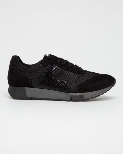 Черные текстильные кроссовки Tamaris