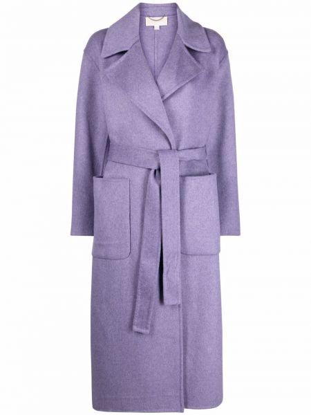 Фиолетовое пальто с поясом Michael Michael Kors