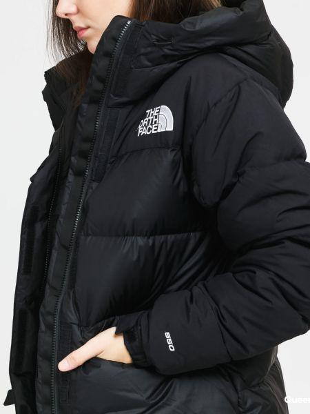 Пуховая черная куртка с капюшоном The North Face