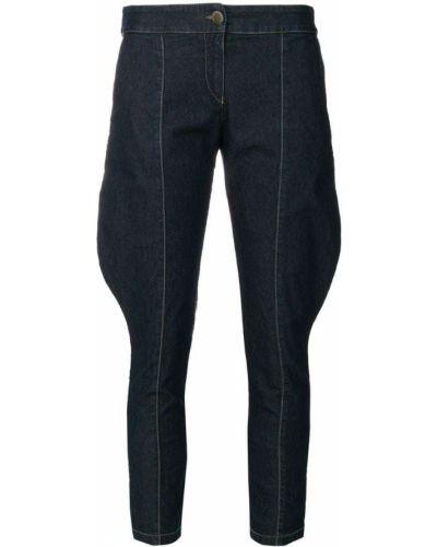 Укороченные джинсы с карманами винтажные на пуговицах Giorgio Armani Pre-owned