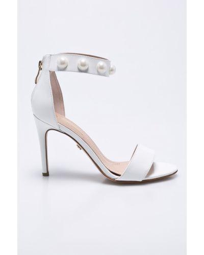 Туфли на высоком каблуке кожаные на каблуке Solo Femme