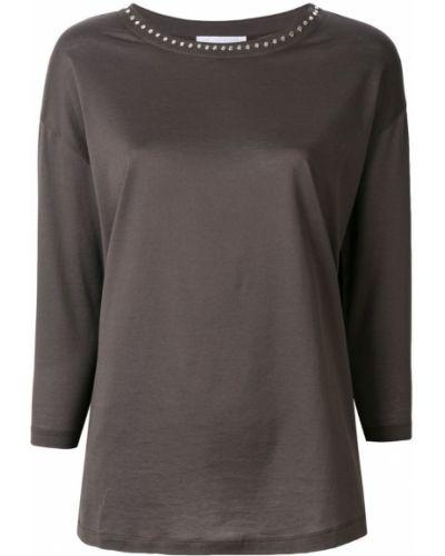 Коричневая блузка прямая Fabiana Filippi