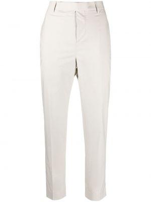 Białe spodnie z paskiem bawełniane Rick Owens