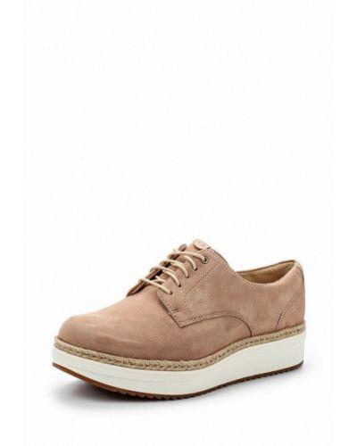 Ботинки на каблуке замшевые Clarks