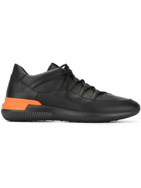 Czarne wysoki sneakersy skorzane sznurowane Tod's