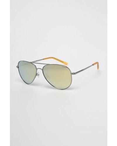 Солнцезащитные очки стеклянные металлические Polaroid