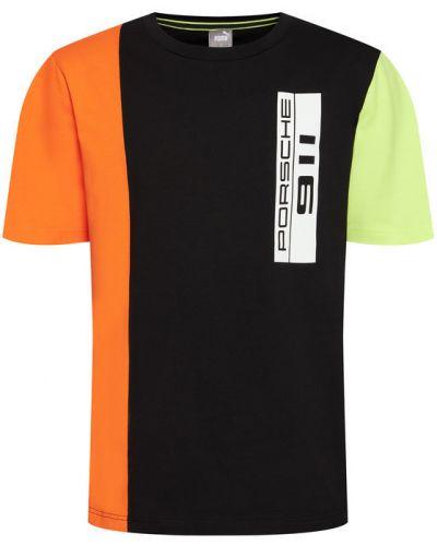 Czarny t-shirt oversize Puma