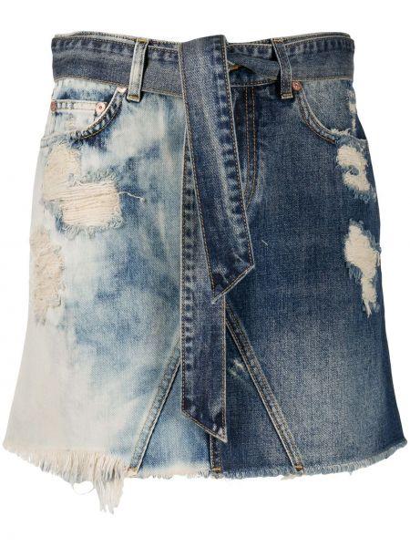 Dżinsowa spódnica mini z ozdobnym wykończeniem Givenchy