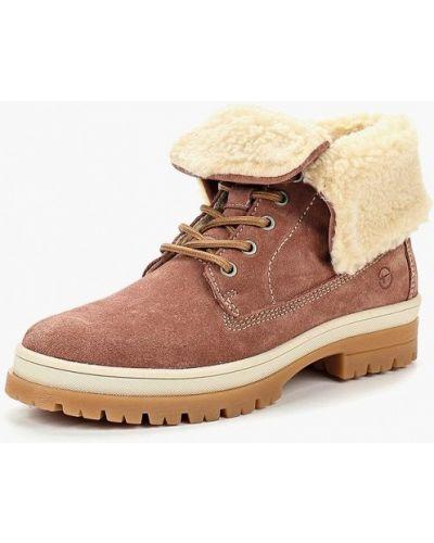 Ботинки осенние высокие замшевые Tamaris