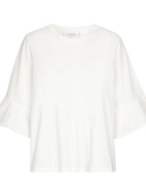 Biały top bawełniany na co dzień Dorothee Schumacher
