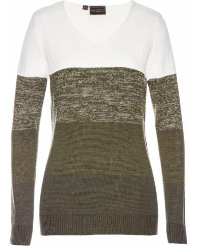 Пуловер с V-образным вырезом кашемировый Bonprix
