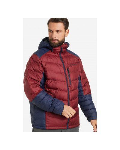 Кожаная куртка с капюшоном - красная Columbia