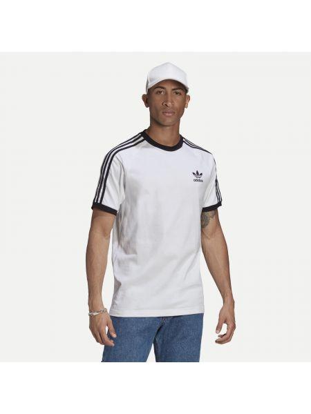 Брендовый белый топ Adidas Originals