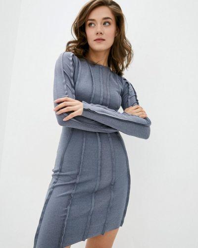 Прямое платье - серое Ricamare
