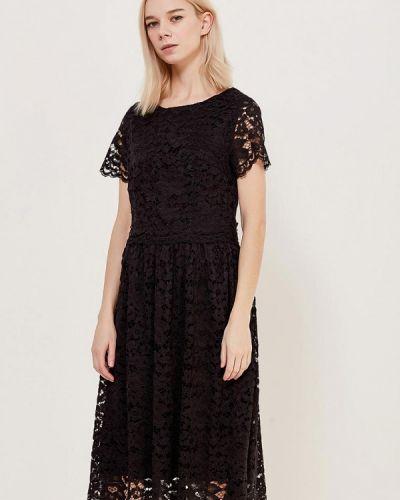 Платье миди черное мадам т