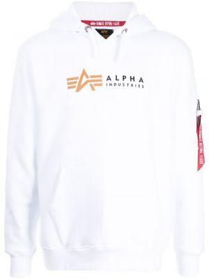 Белое худи классическое Alpha Industries