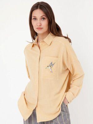 Желтая блузка с длинными рукавами Gregory