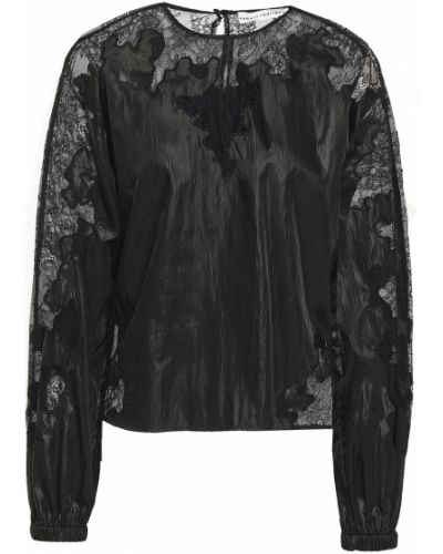 Кружевная черная блузка с длинными рукавами Robert Rodriguez