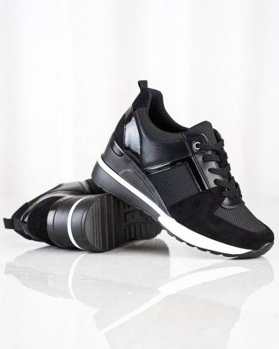 Czarne buty sportowe skorzane W. Potocki