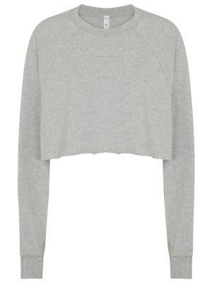 Szara bluza dresowa bawełniana Alo Yoga
