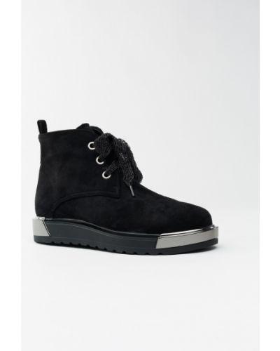 Ботинки черные замшевые Aiformaria