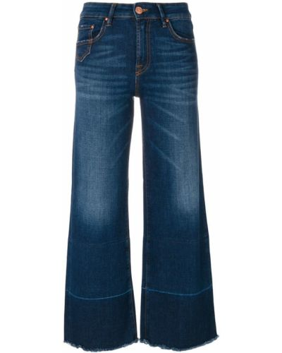 Широкие джинсы mom синие Don't Cry