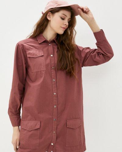 Розовое платье-рубашка Please