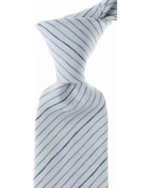 Zielony krawat w paski bawełniany Kenzo