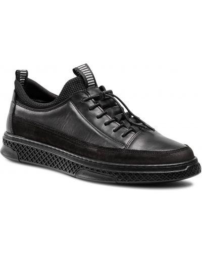 Czarne sneakersy Badura