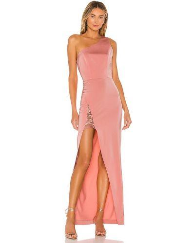 Satynowa sukienka koronkowa sznurowana Nbd