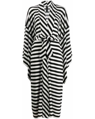 Платье макси в полоску через плечо Norma Kamali