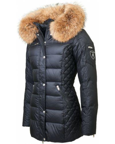 Czarna kurtka z futerkiem Rockandblue