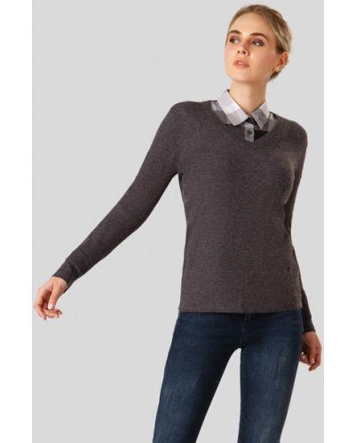 Серый пуловер Finn Flare