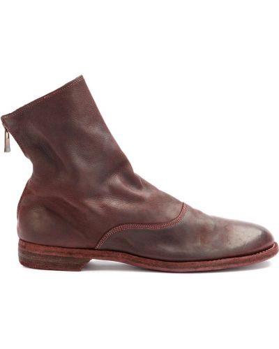 Кожаные ботинки фиолетовый Guidi