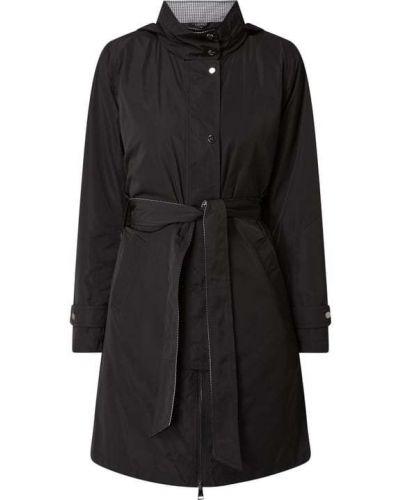 Czarny płaszcz z kapturem zapinane na guziki Lauren Ralph Lauren