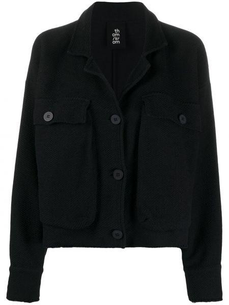 Вязаная черная куртка с воротником Thom Krom