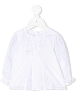 Bluzka z długimi rękawami z haftem bawełniana Baby Dior