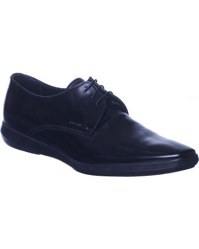 Кожаные туфли - черные Prada